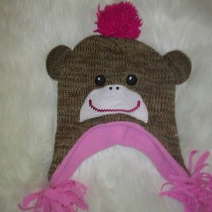 Girl's NWT Sock Monkey Hat